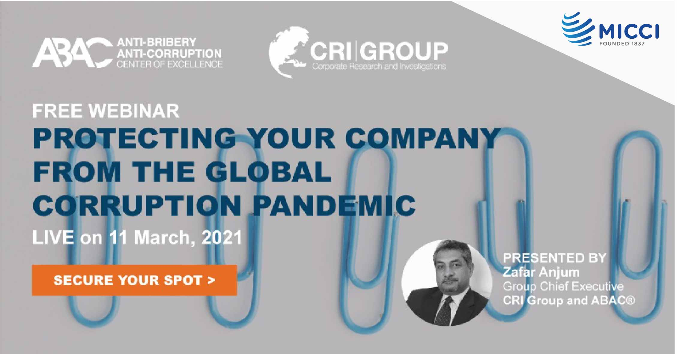 Free Webinar - Protecting Your Company From The Global Corruption Pandemic