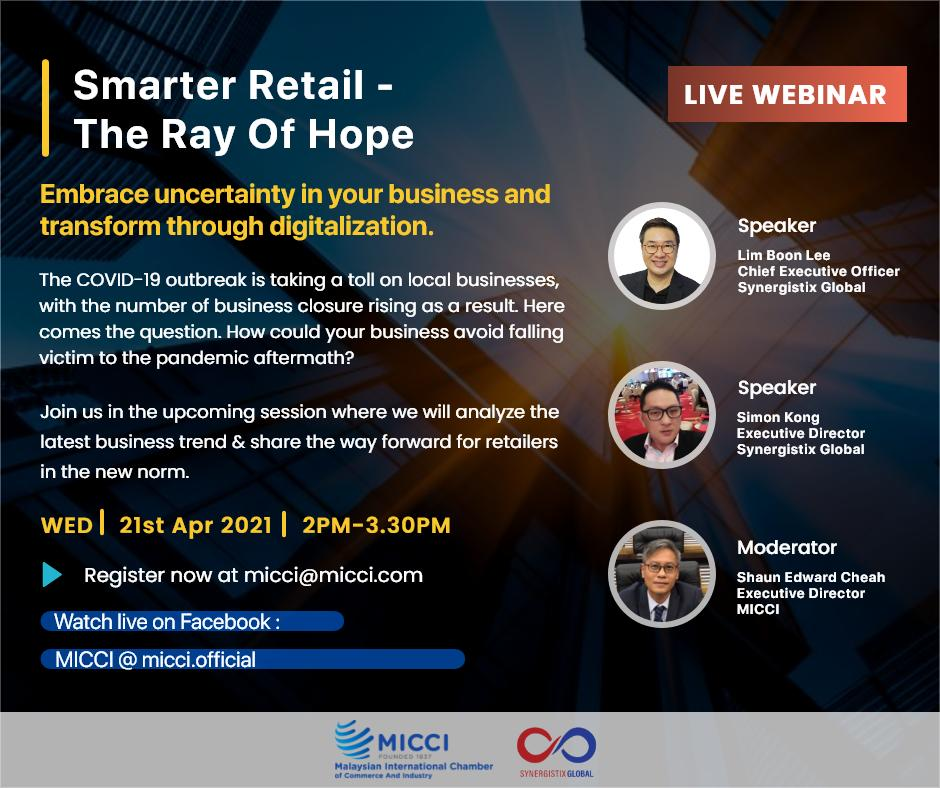 Invitation To Free Webinar : Smart Retail – The Ray Of Hope